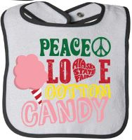 Baby Bib - Peace Love and Cotton Candy