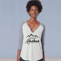 3/4 Sleeve Vintage Tshirt - Home Grown Alaskan