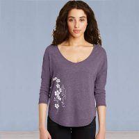 Ladies 3/4 Sleeve Tshirt - Forget-Me-Not Ivy - Purple