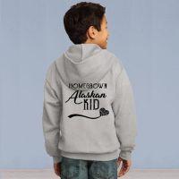 Youth Full Zip Hooded Sweater - Homegrown Alaskan - Grey