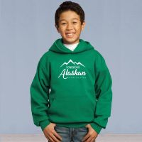 Youth Pull Over Hooded Sweater - Homegrown Alaskan - Green