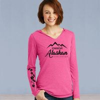 Hooded Sweater Tshirt - Homegrown Alaskan with Ivy - Pink