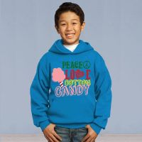 Youth Pull Over Sweater - Peace Love and Cotton Candy - Saffire