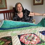 Commemorative Fair Quilt Raffle Winner Lorraine Stotts