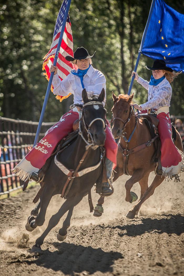 Asf Rodeo Flags Alaska State Fair