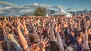 Concertgoers at the Alaska State Fair