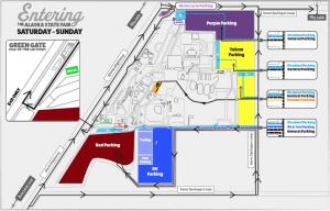 Weekend parking map