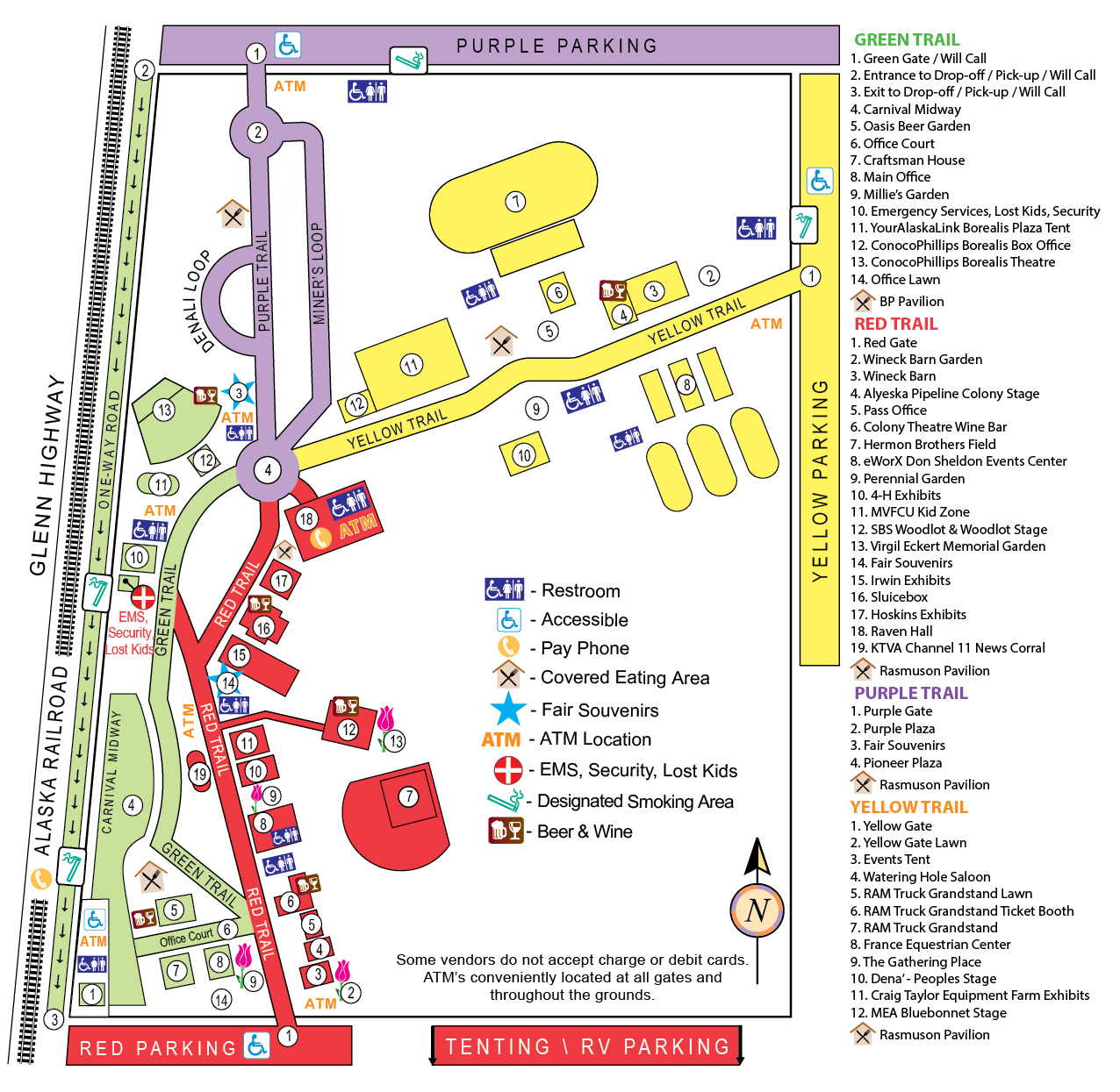 Site Map 2018: Alaska State Fair