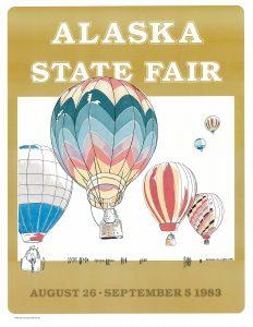 1983 Alaska State Fair Commemorative Poster