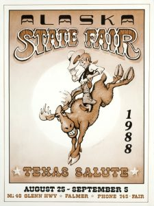 1988 Alaska State Fair Commemorative Poster