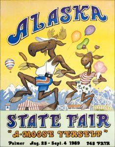 1989 Alaska State Fair Commemorative Poster