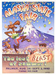 1990 Alaska State Fair Commemorative Poster
