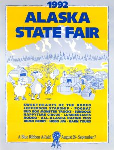 1992 Alaska State Fair Commemorative Poster