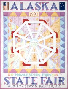 1993 Alaska State Fair Commemorative Poster