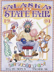 1994 Alaska State Fair Commemorative Poster