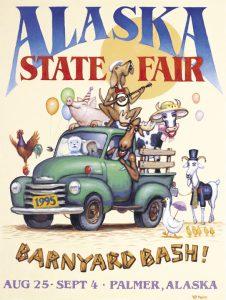 1995 Alaska State Fair Commemorative Poster