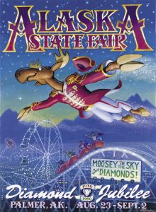 1996 Alaska State Fair Commemorative Poster