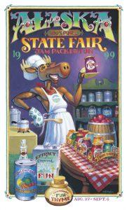 1999 Alaska State Fair Commemorative Poster