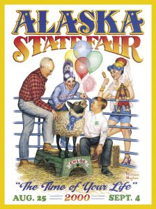 2000 Alaska State Fair Commemorative Poster
