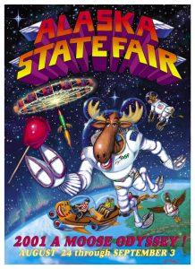 2001 Alaska State Fair Commemorative Poster
