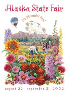 2002 Alaska State Fair Commemorative Poster
