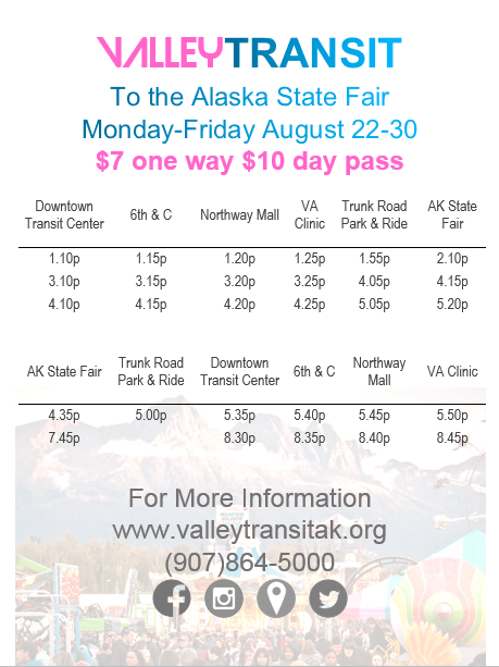 Alaska State Fair 2020 Admissionand Parking.Transportation To The Fair Alaska State Fair